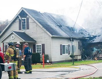 Byer home heavily damaged in Thursday afternoon fire