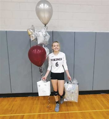 Lady Viking senior volleyball player honored